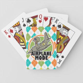 Modo del aeroplano Modelo colorido de Argyle Barajas De Cartas