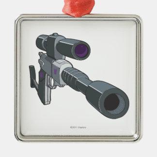 Modo del arma de Megatron Adorno Cuadrado Plateado