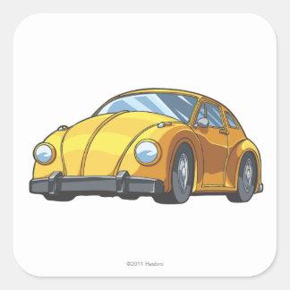 Modo del coche del abejorro calcomanías cuadradass