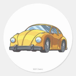Modo del coche del abejorro pegatinas redondas