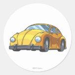 Modo del coche del abejorro pegatina redonda