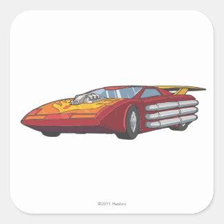 Modo del coche del coche de carreras pegatinas cuadradas