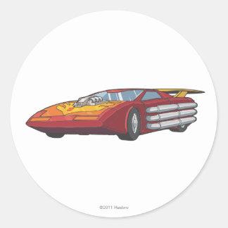 Modo del coche del coche de carreras pegatinas redondas