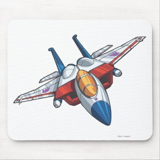 Modo del jet de Starscream Alfombrilla De Ratón