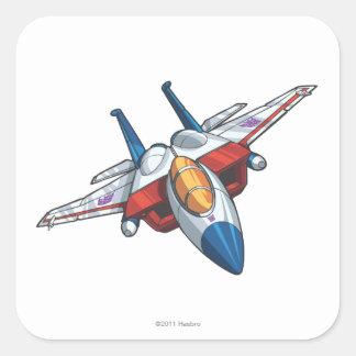Modo del jet de Starscream Pegatinas Cuadradases