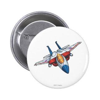 Modo del jet de Starscream Pin Redondo De 2 Pulgadas
