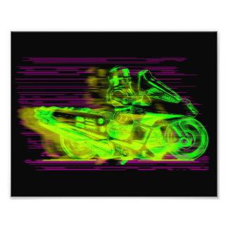 Modo dirigido por laser del jet cojinete