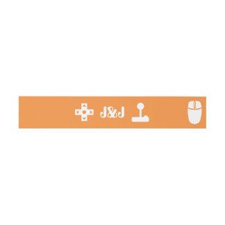 Modo multijugador en banda anaranjada del Belly de Cintas Para Invitaciones