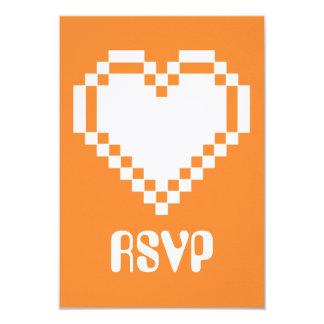 """Modo multijugador en la tarjeta anaranjada de RSVP Invitación 3.5"""" X 5"""""""