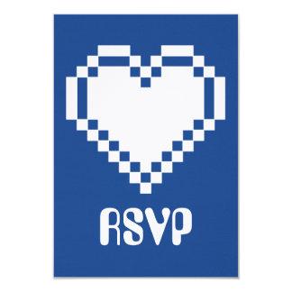 """Modo multijugador en la tarjeta azul de RSVP Invitación 3.5"""" X 5"""""""