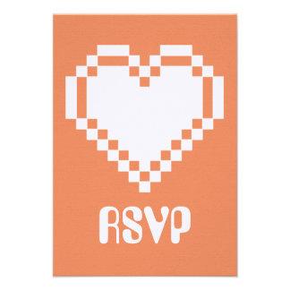 Modo multijugador en la tarjeta coralina de RSVP Comunicados Personalizados