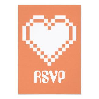 """Modo multijugador en la tarjeta coralina de RSVP Invitación 3.5"""" X 5"""""""