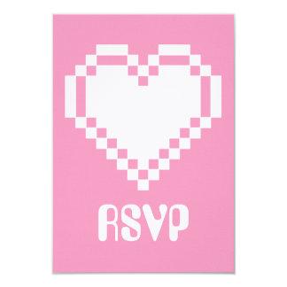 """Modo multijugador en la tarjeta de RSVP del rosa Invitación 3.5"""" X 5"""""""