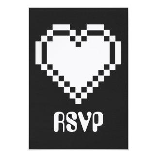 """Modo multijugador en la tarjeta negra de RSVP Invitación 3.5"""" X 5"""""""