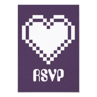 "Modo multijugador en la tarjeta púrpura de RSVP Invitación 3.5"" X 5"""