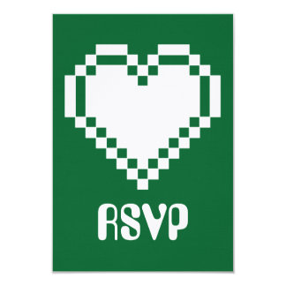 """Modo multijugador en la tarjeta verde de RSVP Invitación 3.5"""" X 5"""""""