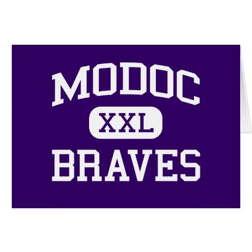 Modoc - Braves - High School secundaria - Alturas  Felicitaciones