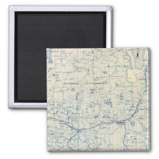 Modoc County 2 Inch Square Magnet