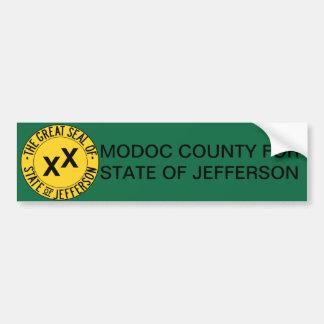 Modoc County for State of Jefferson bumper sticker Car Bumper Sticker