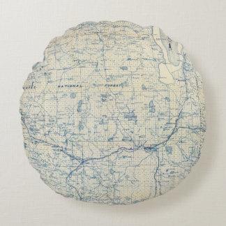 Modoc County Round Pillow