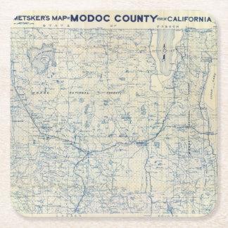 Modoc County Square Paper Coaster