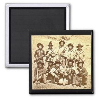 Modoc Indians by Eadweard J. Muybridge 2 Inch Square Magnet