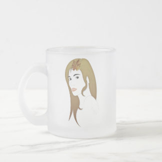 Modron the Celtic goddess of autumn Frosted Glass Coffee Mug
