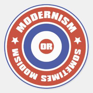 Mods Classic Round Sticker