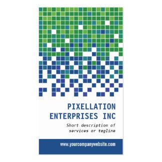 Modulación azulverde del pixel plantilla de tarjeta personal