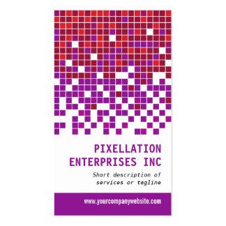 Modulación púrpura del pixel del moho tarjeta personal