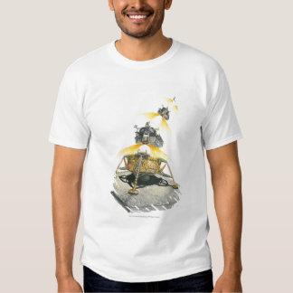 Módulo de Apolo 11 Eagle que saca de la luna Camisas