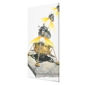 Módulo de Apolo 11 Eagle que saca de la luna Lona Envuelta Para Galerías