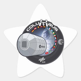 Módulo de Columbus ISS Calcomanías Forma De Estrellas Personalizadas