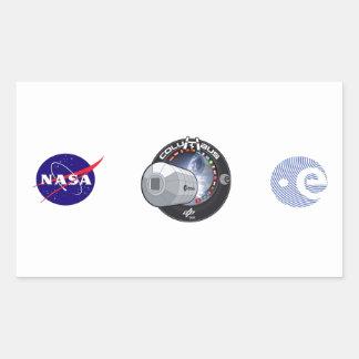 Módulo de Columbus ISS Rectangular Pegatina