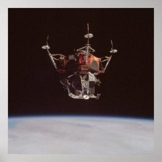 """Módulo lunar """"araña """" de Apolo 9 Poster"""