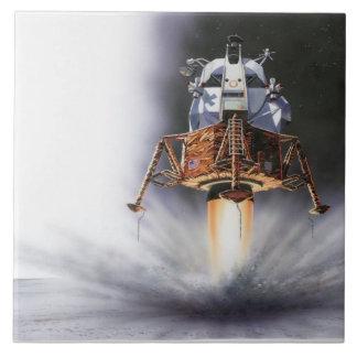 Módulo lunar de Apolo Eagle Azulejo Cuadrado Grande