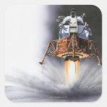 Módulo lunar de Apolo Eagle Pegatina Cuadrada