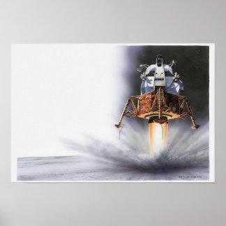 Módulo lunar de Apolo Eagle Póster