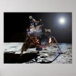 """Módulo lunar """"Eagle"""" de Apolo 11 en la luna Posters"""