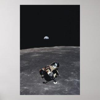 """Módulo lunar """"Eagle """" de Apolo 11 Póster"""