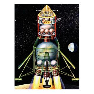 Módulo lunar retro de Sci Fi del kitsch del vintag Postal