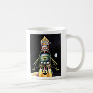 Módulo lunar retro de Sci Fi del kitsch del vintag Taza