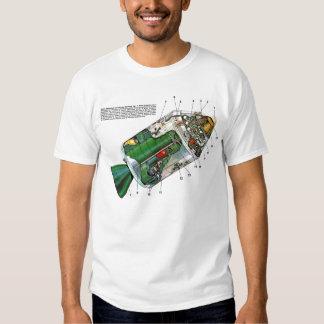 Módulo retro del espacio de Sci Fi Apolo del Camisas