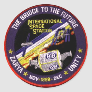 Módulos de la Zarya-Unidad del ISS Etiqueta Redonda