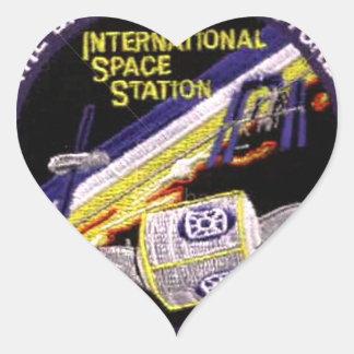 Módulos de la Zarya-Unidad del ISS Calcomanías Corazones Personalizadas