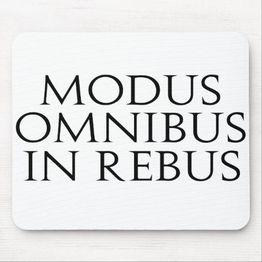 Modus Omnibus In Rebus Mouse Pad