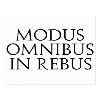 Modus Omnibus In Rebus Postcard