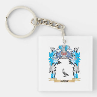 Mody Coat of Arms - Family Crest Square Acrylic Keychains