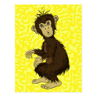 Moe Monkey Postcard