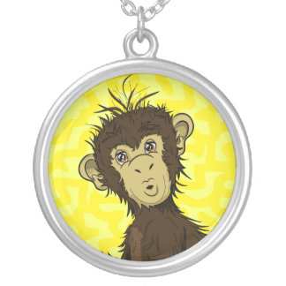 Moe Monkey Silver Plated Necklace